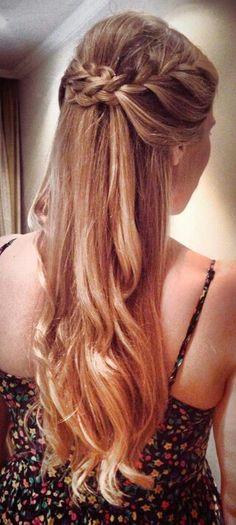 Frisuren semirecogido pelo suelto 36 Ideen - New Site Formal Hairstyles, Latest Hairstyles, Vintage Hairstyles, Summer Hairstyles, Pretty Hairstyles, Braided Hairstyles, Wedding Hairstyles, Hairstyle Ideas, Hair Dos