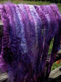 mohair purple roving by dancingleafdalis, via Flickr