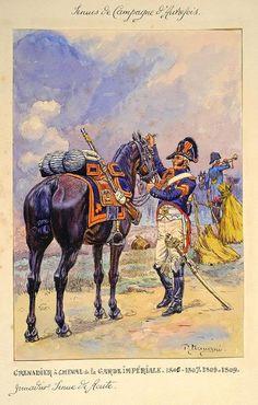 French; Imperial Guard, grenadier a Cheval, Tenue de Route 1806-09 by Pierre Benigni,