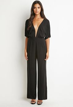 Deep V-Neck Jumpsuit | FOREVER 21 created by #ShoppingIS