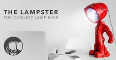 An unique lamp, funny to have around the house! Handpainted to match your style, you can control Lampster's color & intenity of the light using your mobile.
