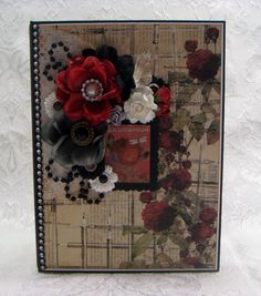 TPHH Sharon Chipboard PREMADE Vintage Keepsake PRIMA Scrapbook Photo Album~Video #PrimaStationersDesk
