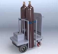 Powered Gas Bottle Trolley   Spacepac Industries
