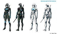 Ki Hyun Ryu's Nightwing Designs For A Cartoon That Never Was