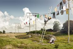 Laundry day by Erik Johansson #photography #photoshop #photomanipulation #surreal #inspiration #illusion