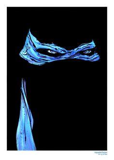 Leonardo Mask Teenage Mutant Ninja Turtle Print by HaywireVisions