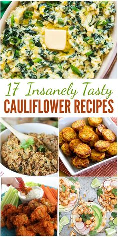 Want to take in fewer carbs? Kick potatoes and rice to the curb! These insanely tasty cauliflower recipes are so flavorful that you'll never miss the carbs!