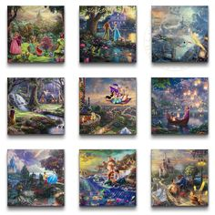 Save on The Thomas Kinkade Company's Colorful Canvases   Disney Insider   Deals