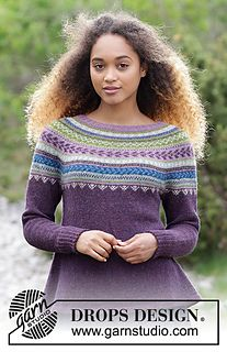 The set consists of knitted jumper with round yoke, multi-coloured Norwegian pattern and A-shape, worked top down. Sizes S - XXXL. Hat with multi-coloured Norwegian pattern. The set is worked in DROPS Alpaca. Jumper Patterns, Knitting Patterns Free, Free Knitting, Free Pattern, Drops Design, Drops Alpaca, Norwegian Knitting, Magazine Drops, Knit Vest