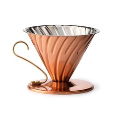 Brewing coffee is part science and part art, and this copper dripper, which is made to conduct heat evenly for a uniform brew, gets it right every time....