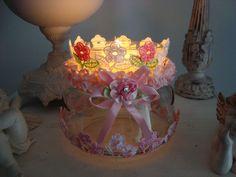 Grand Photophore 2 en 1 de Style Shabby Chic/Romantique . : Luminaires par les-petits-bonheurs-de-paty