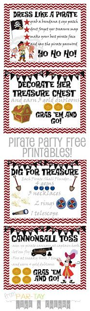 All the free printables you need to throw your jake & the neverland pirates party!