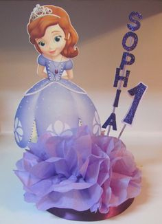 Sofia First Centerpiece Disney Princess by KhloesKustomKreation, $15.00