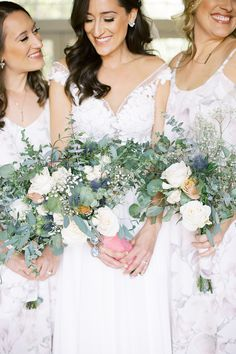 DIY bridesmaid bouquets with Blooms by the Box Green Wedding, Wedding Colors, Wedding Flowers, Diy Wedding Bouquet, Wedding Dresses, Bulk Flowers Online, Eucalyptus Bouquet, Wedding Flower Inspiration, Rose Bouquet