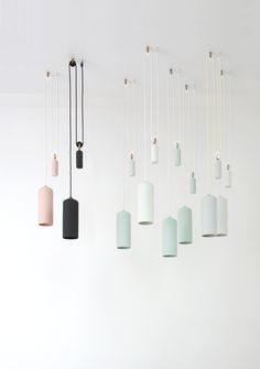 pastel porselein lamp