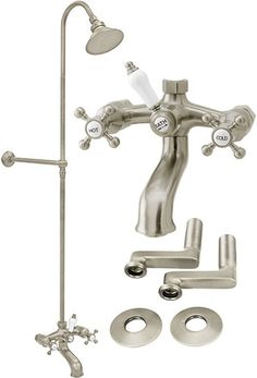 26 Best Clawfoot Tub Shower Rod Images Bathroom Bathroom
