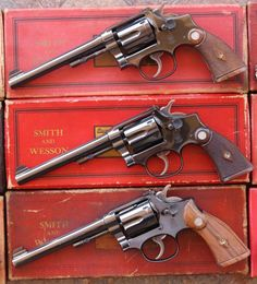 I've been pawing through my grips today after getting a set that were suspiciously rosewoody to me (after cleaning them they aren't, they are certainly walnut) when I was confronted with at least one Smith And Wesson Revolvers, Smith N Wesson, Weapons Guns, Guns And Ammo, Bushcraft, Revolver Pistol, Lever Action, Fire Powers, Cool Guns