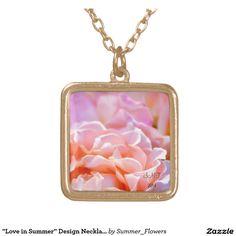 """Love in Summer"" Design Necklace"