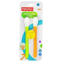 Buy Fisher-Price Wrap Around Spoons, (Discontinued by Manufacturer) Wrap Around, Fisher Price, Counting, Hold On, Spoons, Learning, Utensils, Studying, Cutlery