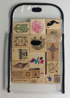 Here at Totally-Tiffany, we have the perfect solution for organizing your wood mounted stamps! Visit us at www.Totally-Tiffany.com to watch a short video on the usefulness of using our Stamp Store and Go Bags!