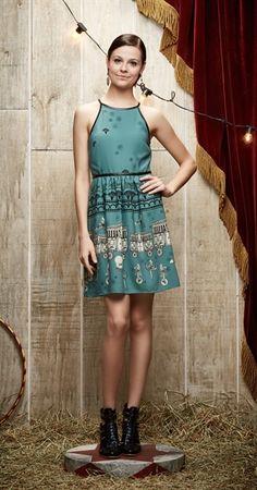 vestido Lira verde | Antix | Carola e sua cartola