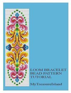 Bead Loom Vintage Motif 5 Bracelet Pattern by MyTreasureIsland