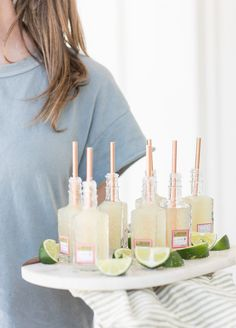 A Charming Way to Serve Mini Margaritas