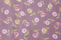 Pretty Little Floral Flower Fabric Cotton Violet Purple Cute Vintage Half Meter by TwoChubbyRabbits on Etsy
