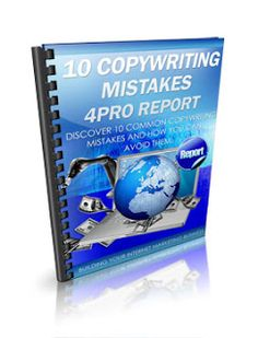 10 COPYWRITING MISTAKES 4PRO - http://www.free-ebook-directory-for-you.com/2013/01/10-copywriting-mistakes-4pro.html