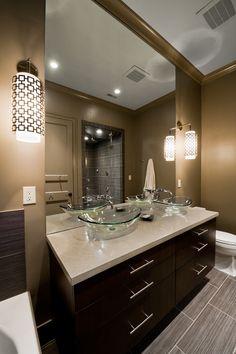 : Striking Master Bath Modern By Design Contemporary Bathroom Interior Used Small Bathroom Vanity Mirrors Decoration Ideas