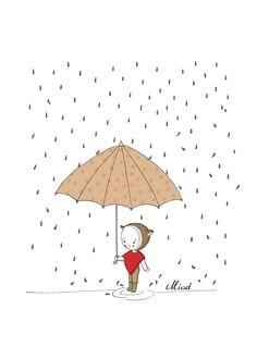 * Bloomy aime la pluie * Tous droits réservés  Miod illustration