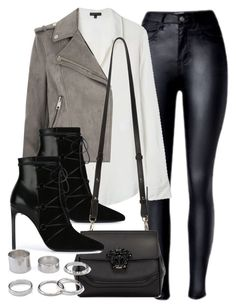 """""""Sin título #11839"""" by vany-alvarado ❤ liked on Polyvore featuring Theory, River Island, Yves Saint Laurent and Versace"""
