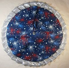 Fourth of July Tabletop Tree Skirt 24 Fireworks with Silver Ruffle >>> This is an Amazon Affiliate link. Be sure to check out this awesome product.
