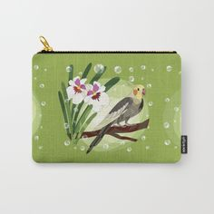 And here we have our cockatiel on our carry-all pouch that you can find here! https://society6.com/product/cockatiel-and-flower273450_carry-all-pouch #HAPIdesign #society6 #bird #cockatiel #product #instalike #instagood #follow #spiral