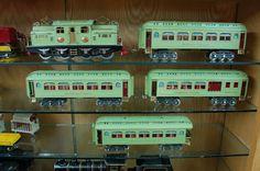 Pre-war Lionel Trains Lionel Standard Gauge 408E Green Set w/ 418, 419, 431, 490