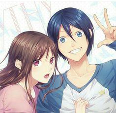 Hiyori Iki x Yato - Noragami Noragami Anime, Bishamonten Noragami, Anime Yugioh, Anime Pokemon, Anime Plus, Yato And Hiyori, Manga Anime, Anime Quotes Tumblr, Anime Body