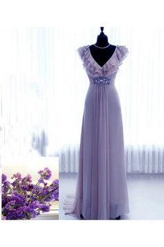 Jaro 2014 Šifón Empírové Ruční na míru Svatební šaty