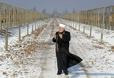 Muslim dignitaries at Auschwitz to honor Jews killed during the Holocaust.