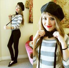 MIME GIRL (by Bebe Zeva) http://lookbook.nu/look/1384175-MIME-GIRL