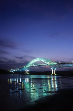 bridge of the americas panama | Bridge of the Americas, at the entrance of the Panama Canal locks ...
