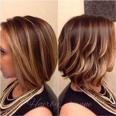 A bob two ways #balayage #davines #hair #haircolor #instastyle #instahair #paintedhair #modernsalon #americansalon #sacramento #sacramentostylist #meccasalon #meccasalon916 #eastsac #midtownsac #hairinspo color and cut by Leanne and mecca salon 916.444.2136