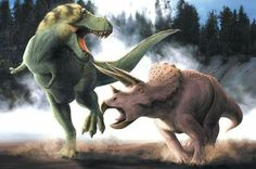 T. rex vs Triceratops. Art by Christopher Srnka