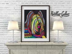 DIGITAL Print File - Briard Art Art Print Poster by Heather Galler art dog Art Print Poster by Heather Galler (HG222)