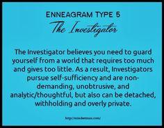 Enneagram Type 5 : The Investigator | www.mindsetmax.com