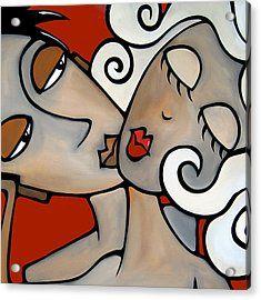 The Kiss Canvas Print Canvas Art by Karl Haglund