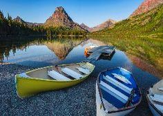 Góry, Łodzie, Jezioro, Pomost, Roślinność