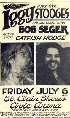 iggy & bob seger Not a match you'd see these days...
