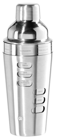 Features:  -Material: Stainless steel.  -Capacity: 23 Ounces.  -Finish: Chrome.  Finish: -Chrome.  Product Type: -Shaker.  Primary Material: -Stainless Steel. Dimensions:  Overall Height - Top to Bott