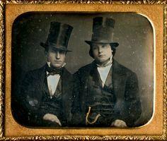 young men, ca 1855