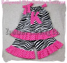 Custom Boutique Clothing Zebra N Dots Pillowcase Dress Top Ruffle Pant Bottom Outfit Set 3 6 9 12 18 24 month size 2T 2 3T 3 4T 4 5T 5 6 7 8 by ZamakerrClothingCo on Etsy https://www.etsy.com/listing/65530323/custom-boutique-clothing-zebra-n-dots